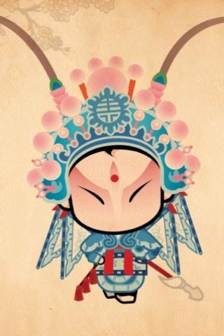 可爱的京剧卡通小人手机壁纸下载 第6页图片